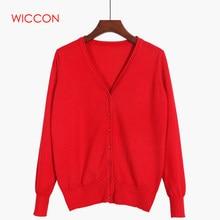 Nuevo suéter de mujer cárdigan de punto suéter abrigo de manga larga  Crochet mujer Casual cuello 194806355f03