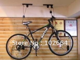 Bicycle Hoist Garage Ceiling Lift Pulley Bike Racks