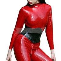 Rubber Latex Corset Female Black Body Sharper 1mm Natural Rubber Latex Bustiers Customize Service BNLCC017
