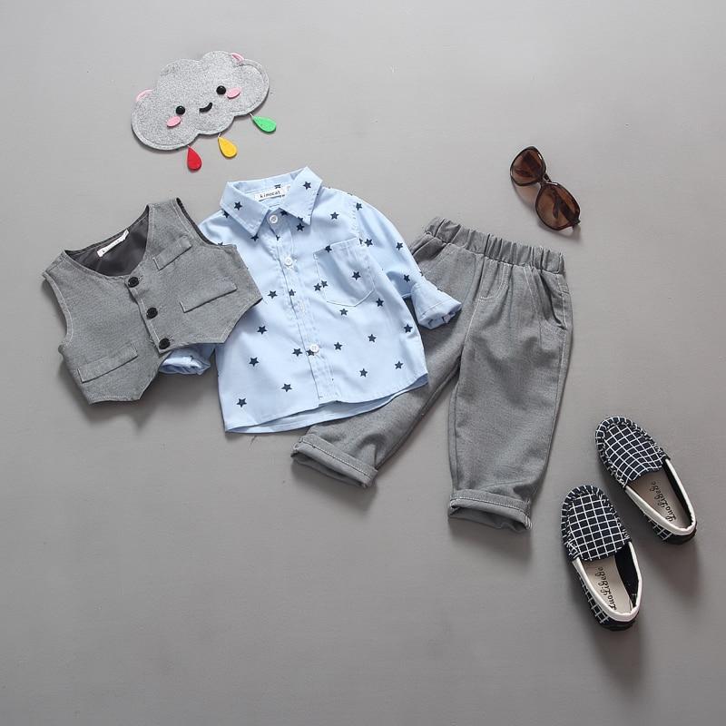 nowy 2015 jesień Dziecko garnitur dżentelmenów odzież zestaw - Odzież dla niemowląt - Zdjęcie 2
