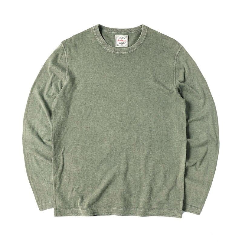 T2-0004 Read Description! Asian Size Mans Casual Long Sleeve Cotton T Shirt 4 Colours
