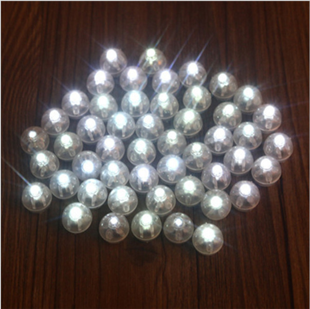 20 Pcs Round Coloured Led RGB Flash Ball Lamps Balloon Lights for Lantern Christmas Wedd ...