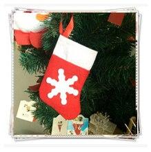 6 Pcs/set Multifunctional Creative Christmas Tableware Holder Cute Mini Christmas Tree Hanging Stocking Ornament Christmas Decor