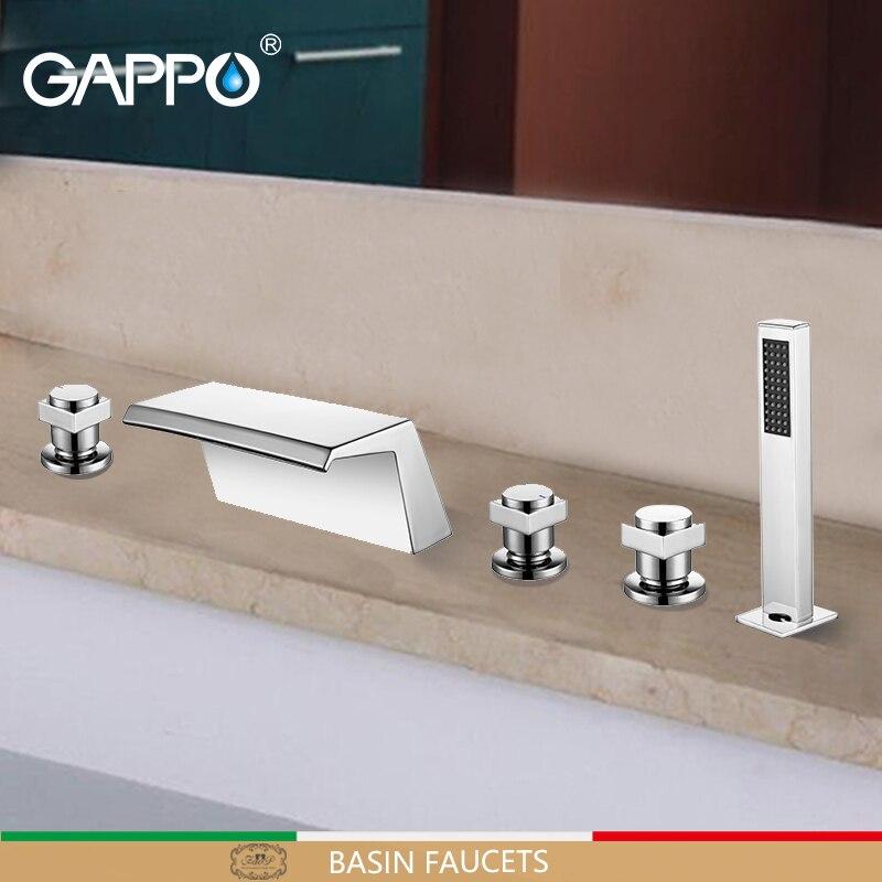 GAPPO bathtub faucet bathroom waterfall deck mounted mixer shower taps bath shower head Bath tub tap rain shower sets все цены