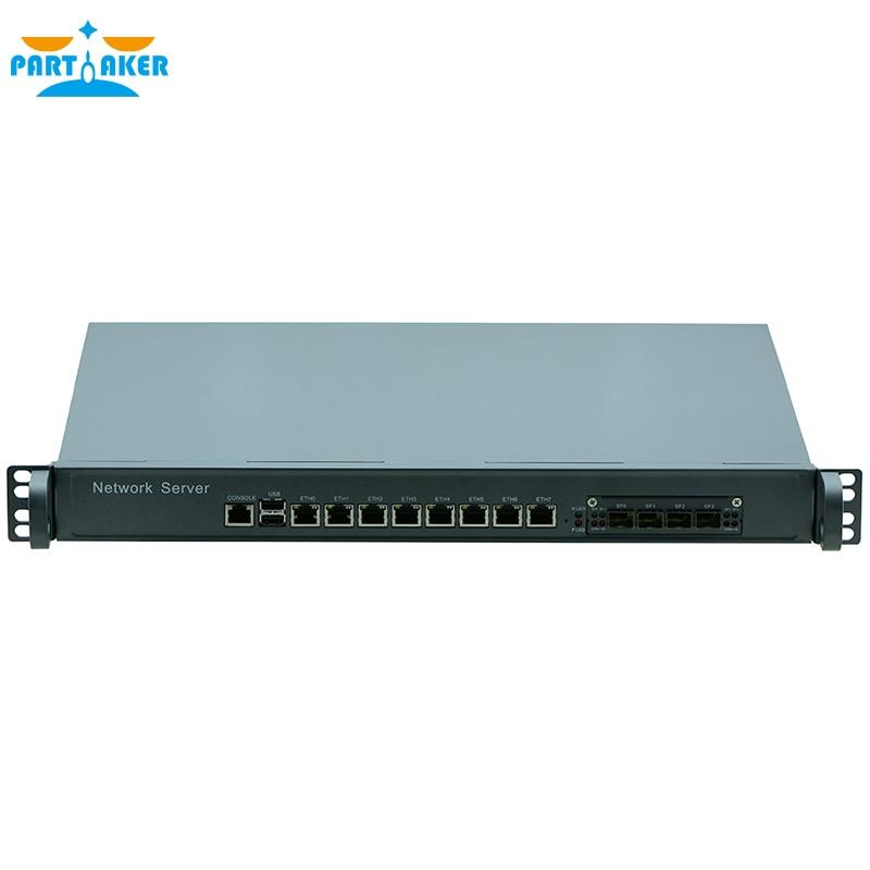 Partaker F8 1U Firewall PC Router with I5 4430 Processor 8 Ports Gigabit Lan 4 SPF PFSense ROS 2G RAM 8G SSD 1u firewall pfsense vpn intel quad core xeon l5420 with 6 ports 6 1000m 82583v gigabit nic 2g ram 8gb ssd