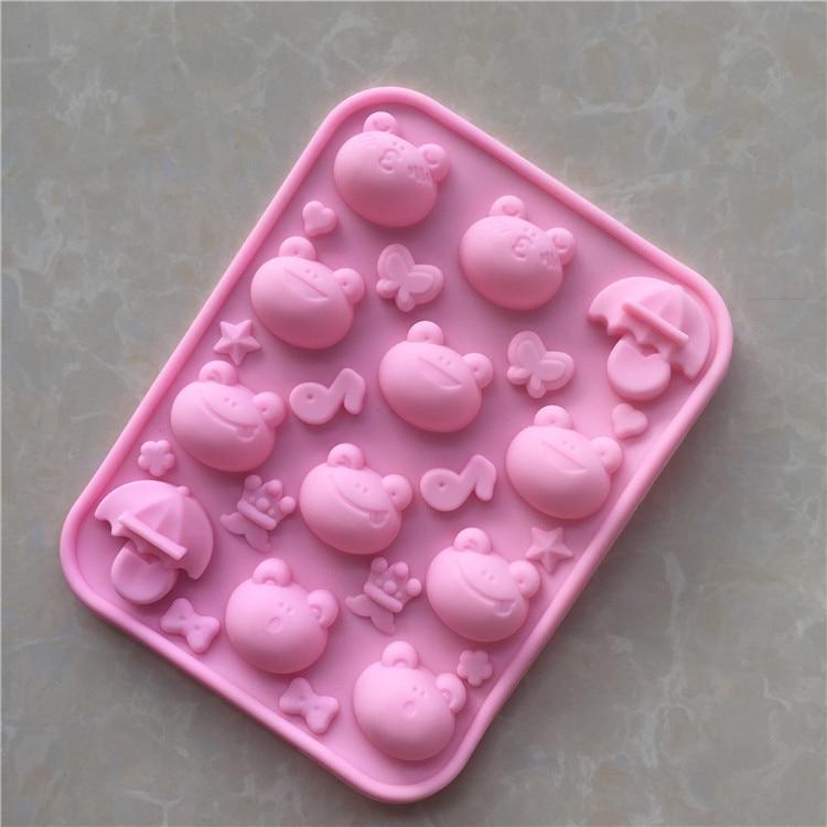 Bakeware Humorous Spot Wholesale Multi-expression Cartoon Silicone Large Eye Frog Chocolate Ice Mold Xg628 Home & Garden
