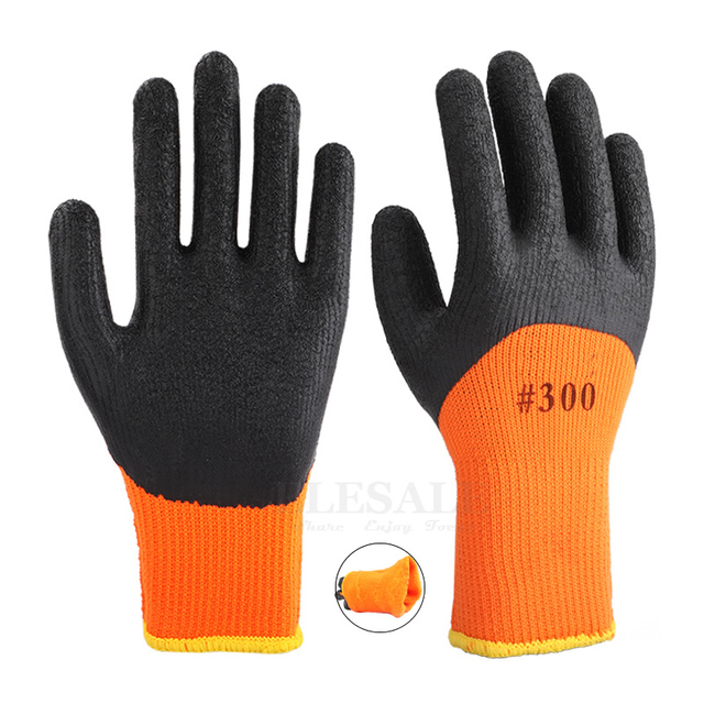 10 Pairs Winter Warm Working Gloves Anti Slip Waterproof Latex Rubber Coated Work Safety Gloves For Garden Repairing Builder