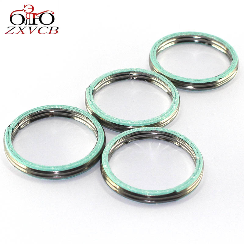 4 PCS FOR HONDA NT700V/VA CB400 CB400A CB400AD CB400FII/FIII CB400S CB400SA/SAD/X cylindre exhaust pipe header gasket ring parts кофры komine