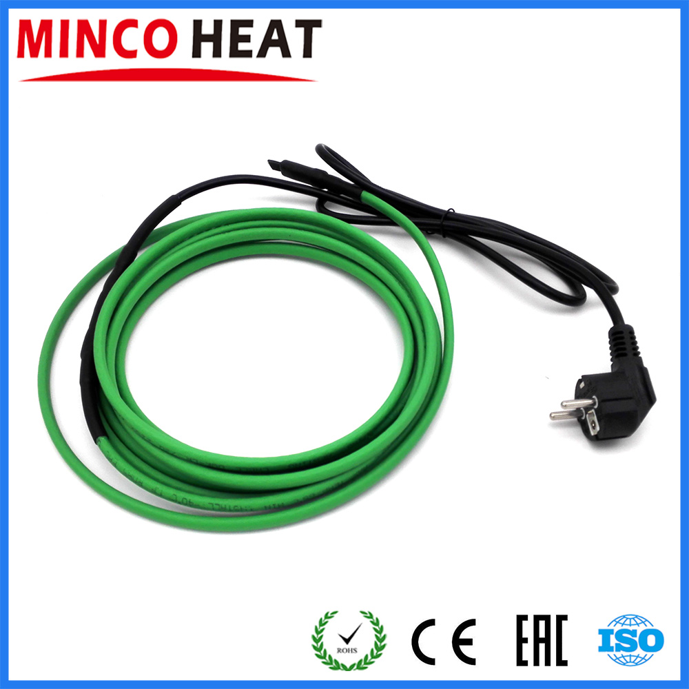 17W m Heating Cable for Installation Inside the Water Pipe 11 20 Meters EU Plug Connected