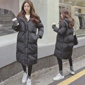 Image 1 - Модная зимняя куртка для женщин 2020 повседневное длинное зимнее пальто женское черное размера плюс женская парка casaco feminino jaqueta feminina