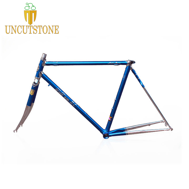 Road Bicycle Frame 4130 Chrome Molybdenum Touring Frame 49 Cm 50 Cm 52 Cm 54 Cm 58cm Road Bike Frame Customized Color