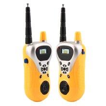 OCDAY 2 pcs / party Professional Intercom Electronic Walkie Talkie Kids Child Mni Handheld Toys Portable Two-way Radio