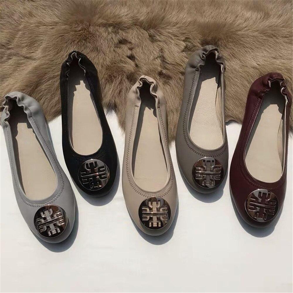 Новое поступление; женская обувь на плоской подошве без застежки; женские балетки из натуральной кожи; повседневная обувь; большие размеры