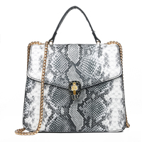 Famous Brand Woman Handbags 2019 Snake Skin Women's Clutch Bag Lady's Womens Bag Over The Shoulder Female Bag Leather Women Bags