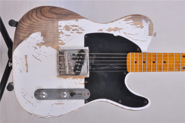TELE aged Electric guitar  handmade remains guitar Free shipping, 2 colors are available