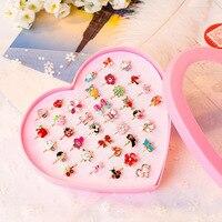 10 unids/lote amor niños lindo dulce diseño de anillos flor Animal accesorios de joyería de moda niño niña regalos anillos de dedo