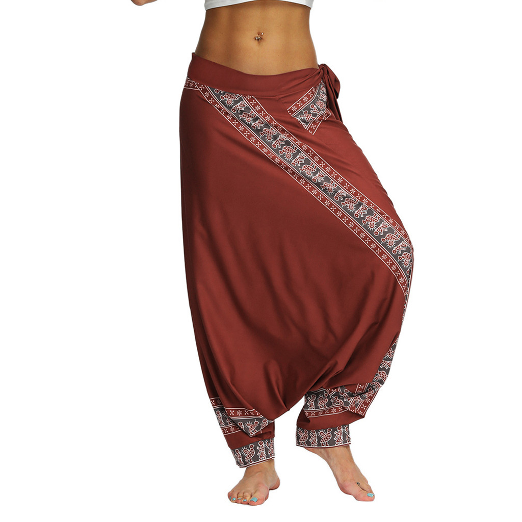 Women Pantalon Femme Harem Pants Pantalones Mujer Pantalones De Mujer Streetwear Casual Loose Baggy Boho Aladdin Pants Z4