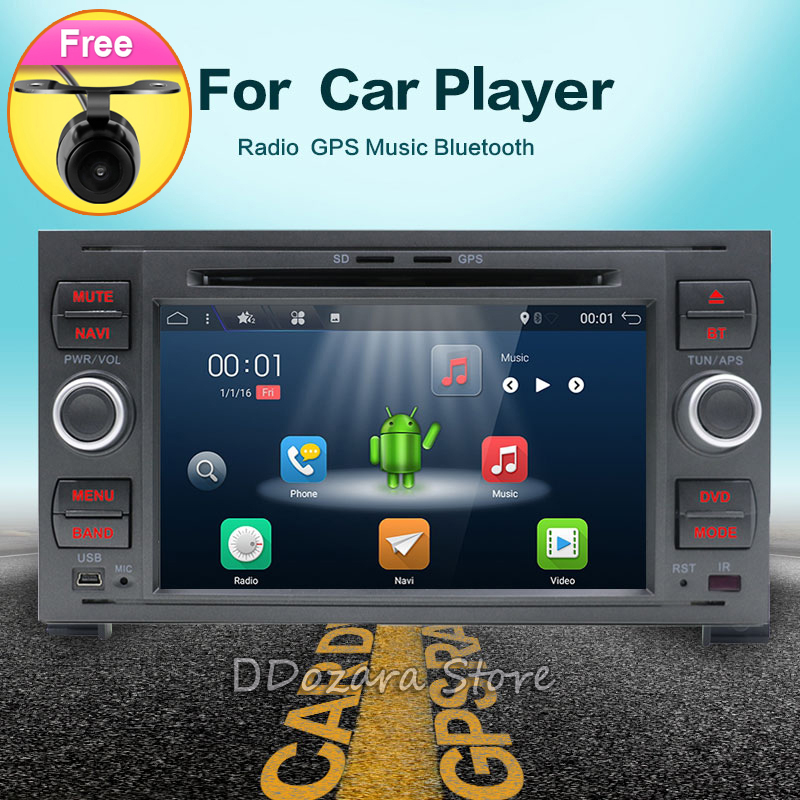 Pour Ford Mondeo s-max Point C-MAX Galaxy Fiesta Forme Fusion 2 DIN voiture lecteur DVD Radio GPS stéréo navigation ANDROID 7.1 audio