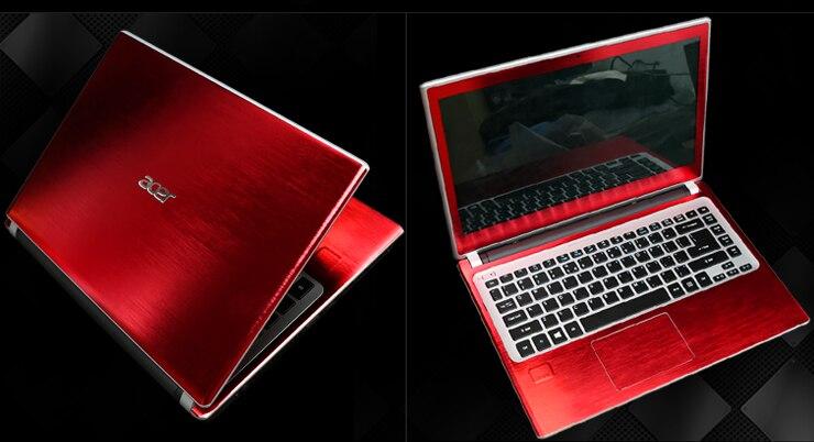 Специальные кожаные виниловые наклейки из углеродного волокна для ASUS G53 G53SW G53SX 15,6 дюйма - Цвет: Red brushed