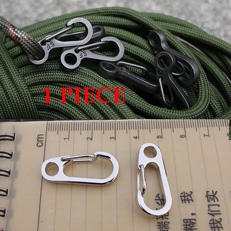1 PIECE Alloy Small Carabiner Keychain Camp Snap Clip Hook Keychain Key Ring Hooks Camping Climbing Survive Tool