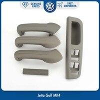 Grey Interior Door Grab Handle Cover Switch Bezel Set for VW Volkswagen Jetta Golf MK4 1J0 867 171A 1J4 867 179A 1J0 867 172A
