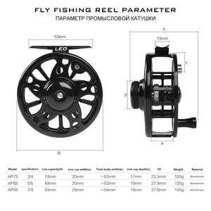 Image 3 - Aluminium Fly Fishing Reel 3/4 5/6 7/8 WT High Quality Left & Right Hand Changed Fishing Wheel CNC Large Arbor Fishing Reel Fly