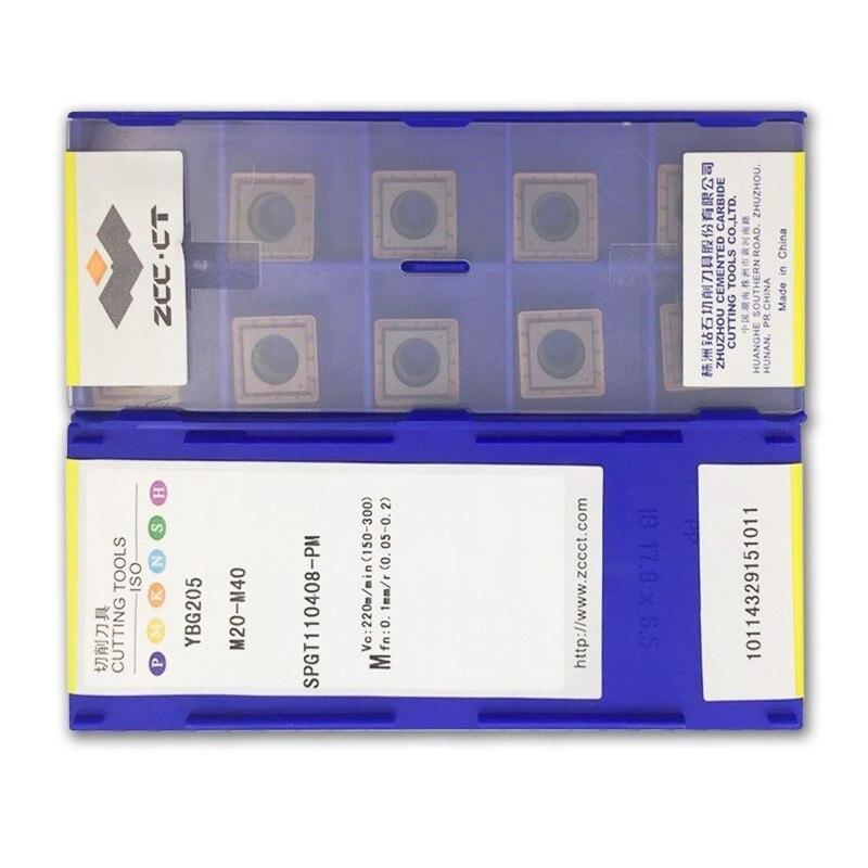 ZCC U forage DTH SPGT SPGT050204 SPGT060204 SPGT07T308 SPGT090408 SPGT110408 PM YBG205 outils de tour en acier inoxydable de traitement