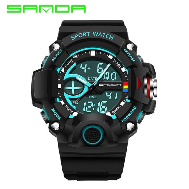 SANDA Brand Men's Watches G style Digital LED Military Sport Watch Men Fashion S-shock Digital Watch relogio masculino
