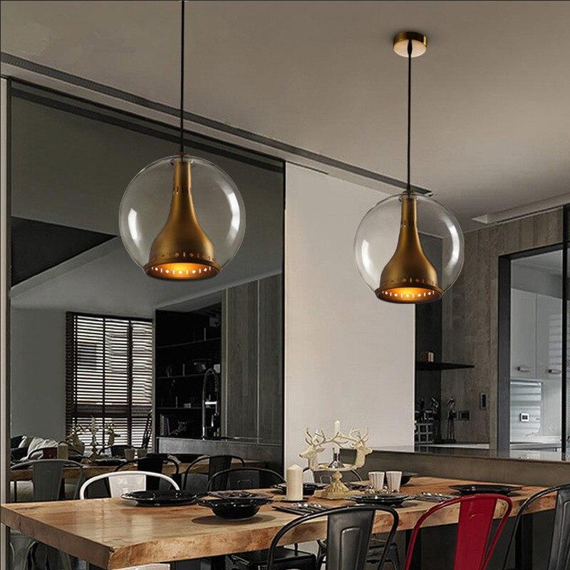 Vintage Pendant Light glass Globe Pendant Lamp For kitchen Dinging Room Modern hanging Lamp Light Fixtures Home Lighting