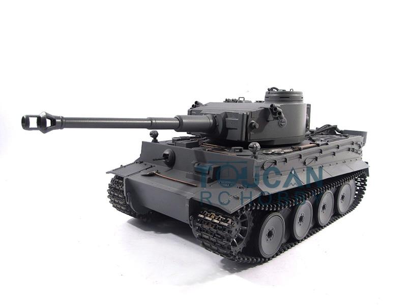 100% Metal Mato 1/16 Tiger I RC RTR Tank Model Shooting Pellets Grey Color 1220