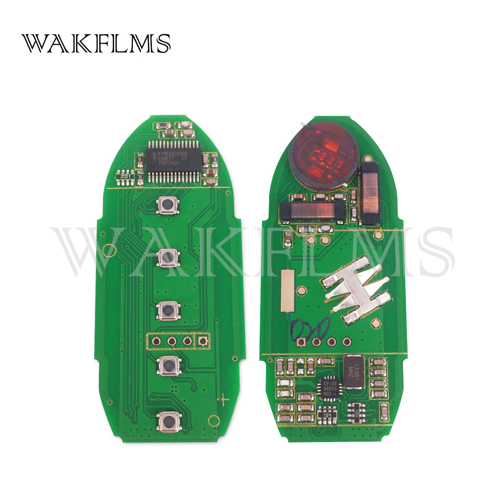 5 Button Smart Remote Car Key 433Mhz For Nissan Altima 2013-2015 with  PCF7953X HITAG 3 ChipS180144020 KR5 No MarkS180144014
