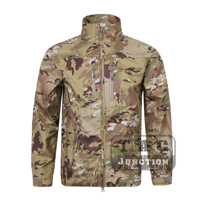 цена на Emerson Tactical Soft Shell Jacket EmersonGear Outdoor Windbreaker Waterproof Breathable Lightweight Jacket Combat Coat Tops