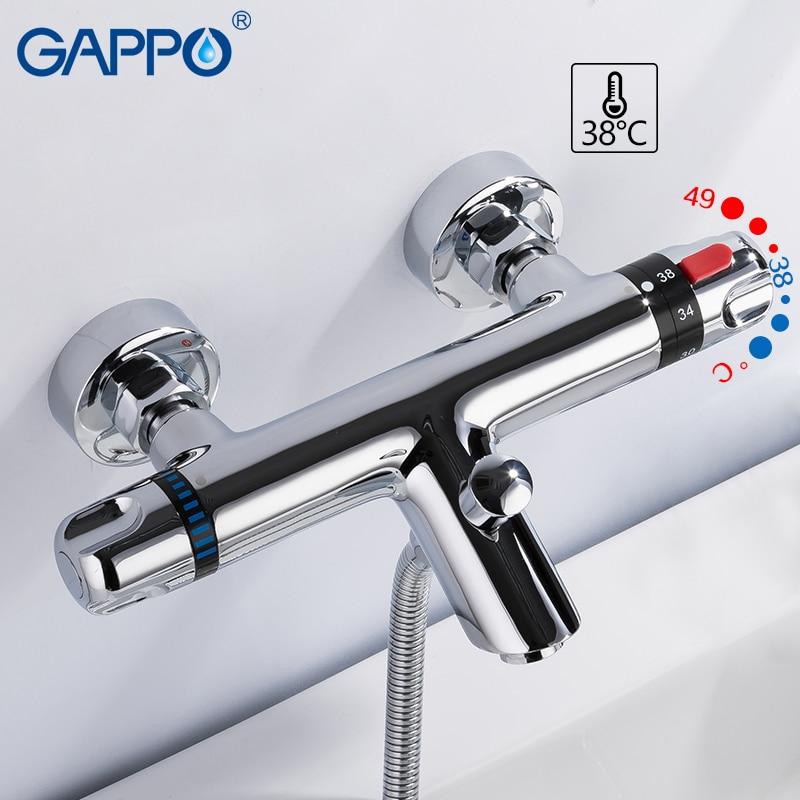 GAPPO смеситель для ванной комнаты Термостатический смеситель для ванной комнаты Смесители для ванной комнаты водопад краны для ванной комна...