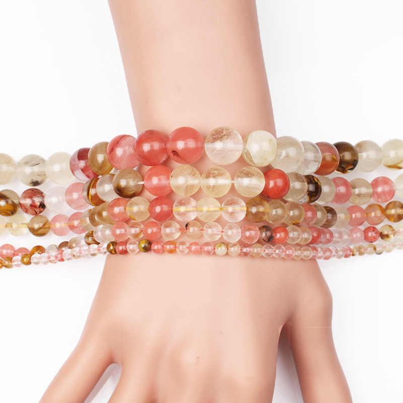AAA Naturstein Perlen Wassermelone Kristall Glas 4 6 8 10 12 MM Quartz Perle DIY Charme Armband Halskette Perlen Für Schmuck Machen