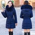 2017 nueva versión de Corea de down jacket women en grandes tamaño madre instalada una larga sección de grueso abrigo de invierno femenina marea