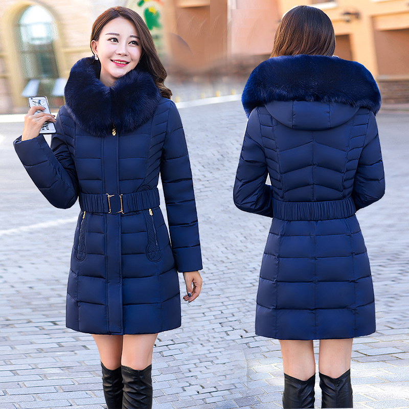 2018 new version of the Korean down jacket women in large size mother installed a long