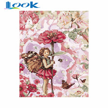 Diy Oil Painting Elves Flower Fairy Canvas Picture Figure Painting By Numbers Modular Pictures Color Modern Wall Art Best Gift(China)