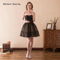Gothic Style Black Ball Gown Short Lace Cocktail Dresses 2018 with Corset Bodice Formal Women Sweetheart Prom Gown robe cocktail