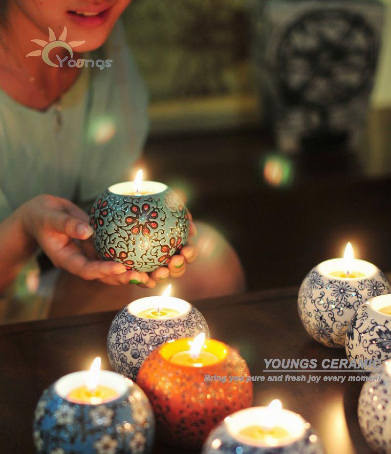 Romantic Handmade Ceramic Candle Holderwedding Wedding Centerpieces