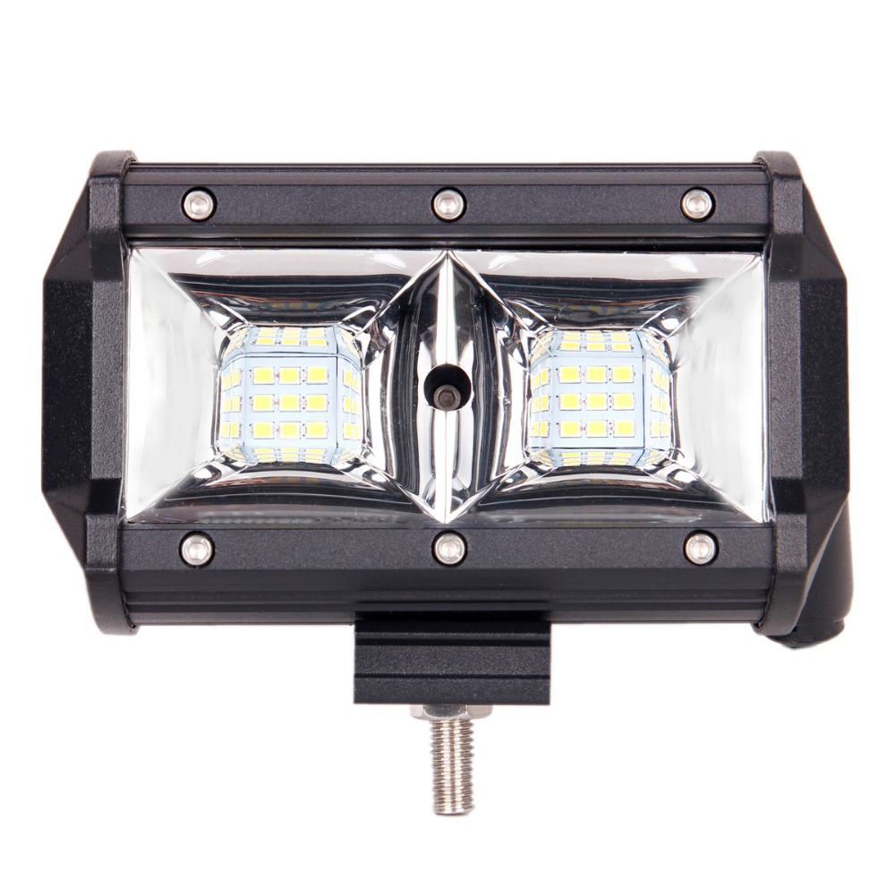 54W 5D high-brightness LED car work light spotlights for off-road vehicle ATV motorcycle boat 6000K 2pcs better ahead image