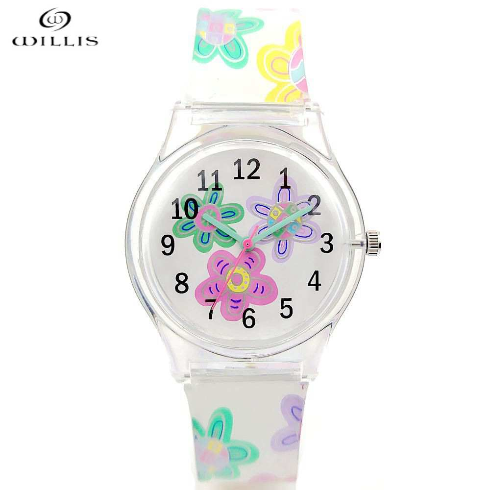 willis Brand New women watch fashion luxury Clock silicone quartz watch 2017 Harajuku style casual bracelet watch Children watch