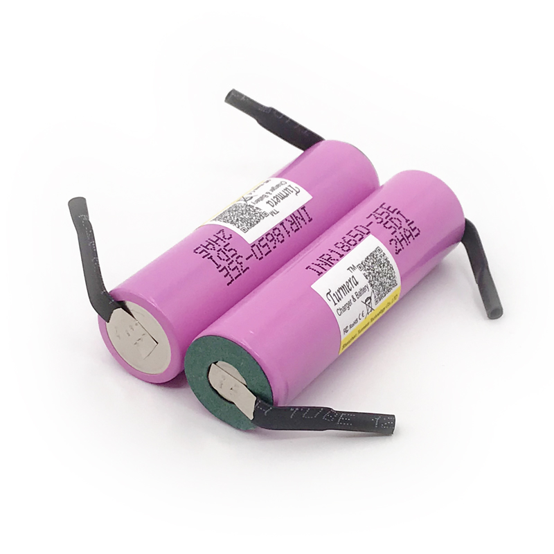 18650 battery 35e 3500mAh 13A Turmera For samsung 18650 with strips for bike battery screwdriver battery
