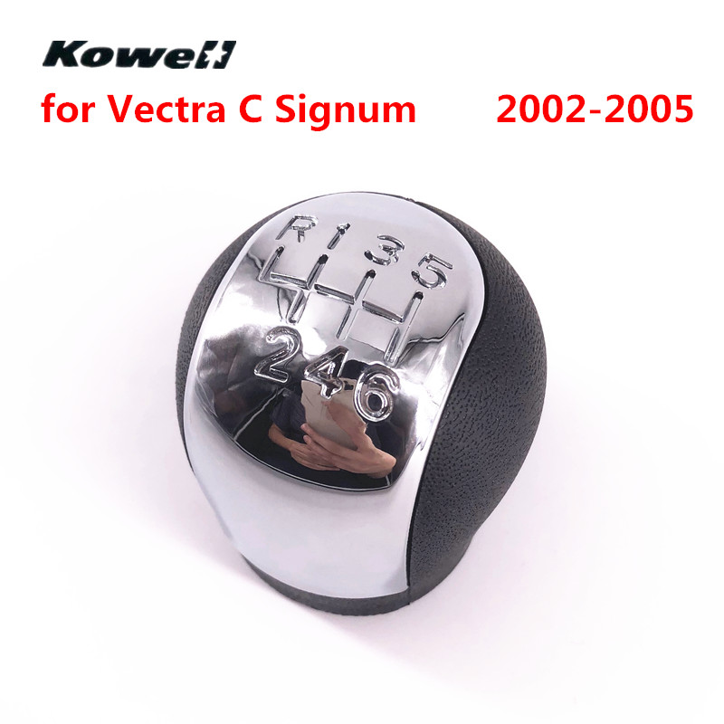 KOWELL Chromed 6 Speed MT Gear Shift Knob for OPEL VECTRA C SIGNUM 2002 2003 2004 2005 Shifter Lever Stick Headball Replacement