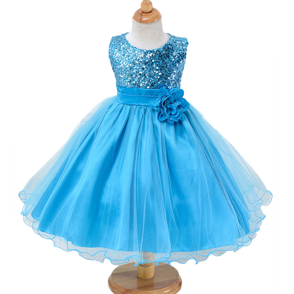 Dropwow Girls Dress Summer Kids Party Dress Long Tailing Girls ... 41d0ecd565e4