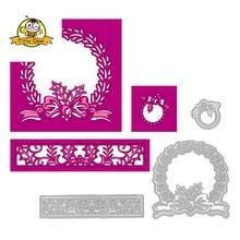 3Pcs Circle Flower Die Metal Cutting Dies Scrapbooking Card Making Craft Album Embossing DIY Decoration New for 2019