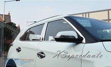 High Quality Brand New 20PCS Full Window Frame Trim + B Pillar Cover Trim For Hyundai IX25 2014 2015
