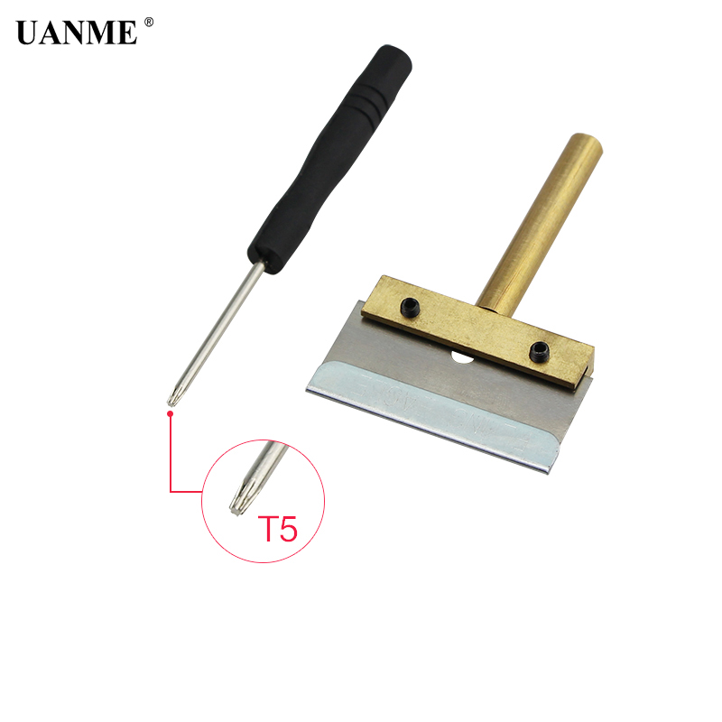 Scraper Tool 60W T Solder Iron Tip with Blade Remove Residue LOCA Adhesive for Cell Phone Screen +T5 Screwdriver