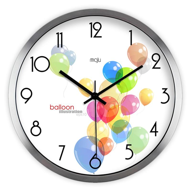 ᓂЦифровой Тихая настенные часы современный Дизайн ...