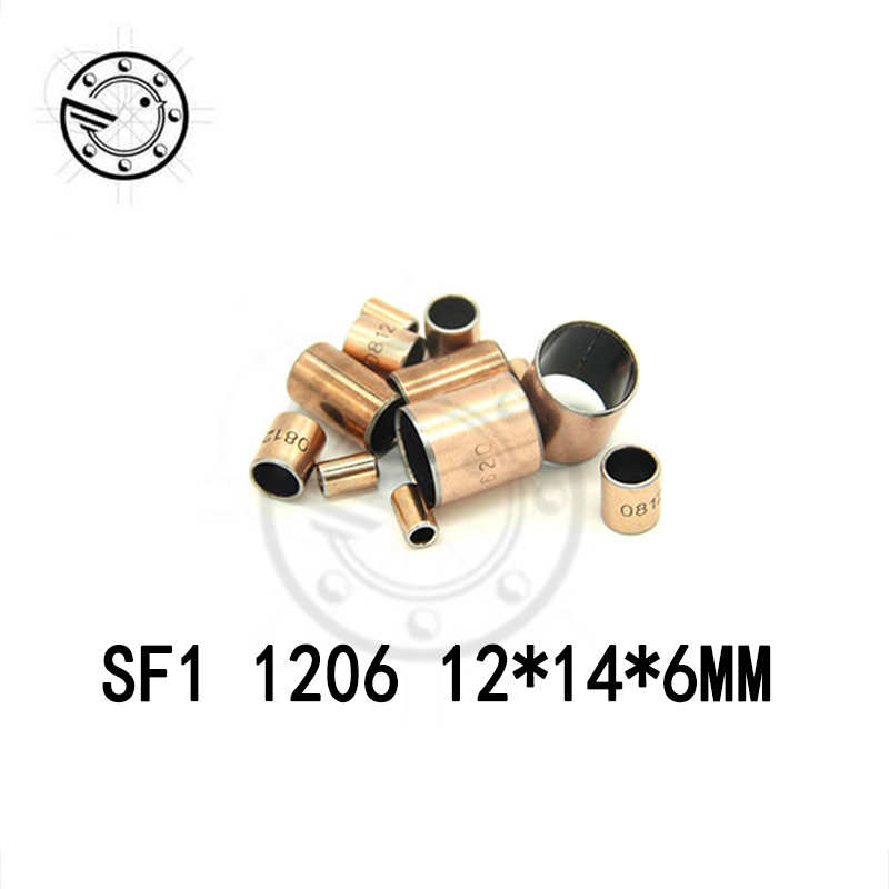 Free shipping 10Pcs SF1 SF-1 1206 1208 1209 1210 1212 1215 1220 1225 Self Lubricating Composite Bearing Bushing Sleeve 10*14*6mm аккумулятор security force sf 1212