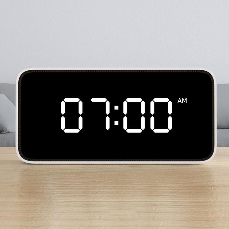 Xiaomi Mijia Xiaoai Smart Alarm Clock Voice Broadcast Clock ABS Table Dersktop Clocks AutomaticTime Calibration Mi Home App in Smart Remote Control from Consumer Electronics